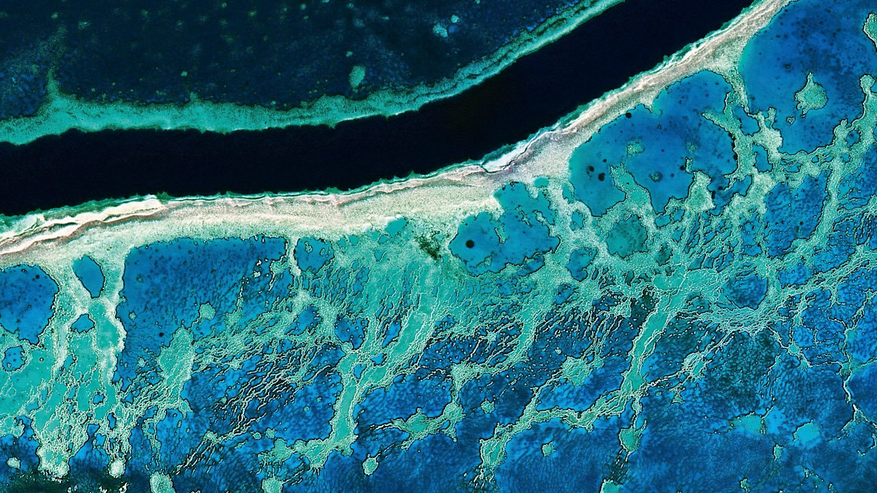 Great Barrier Reef seen from space