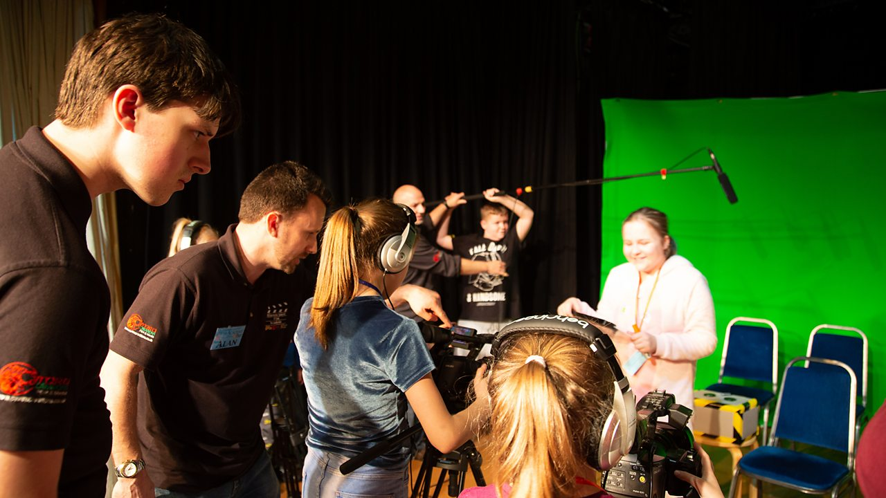 Alfie directing at the film academy.