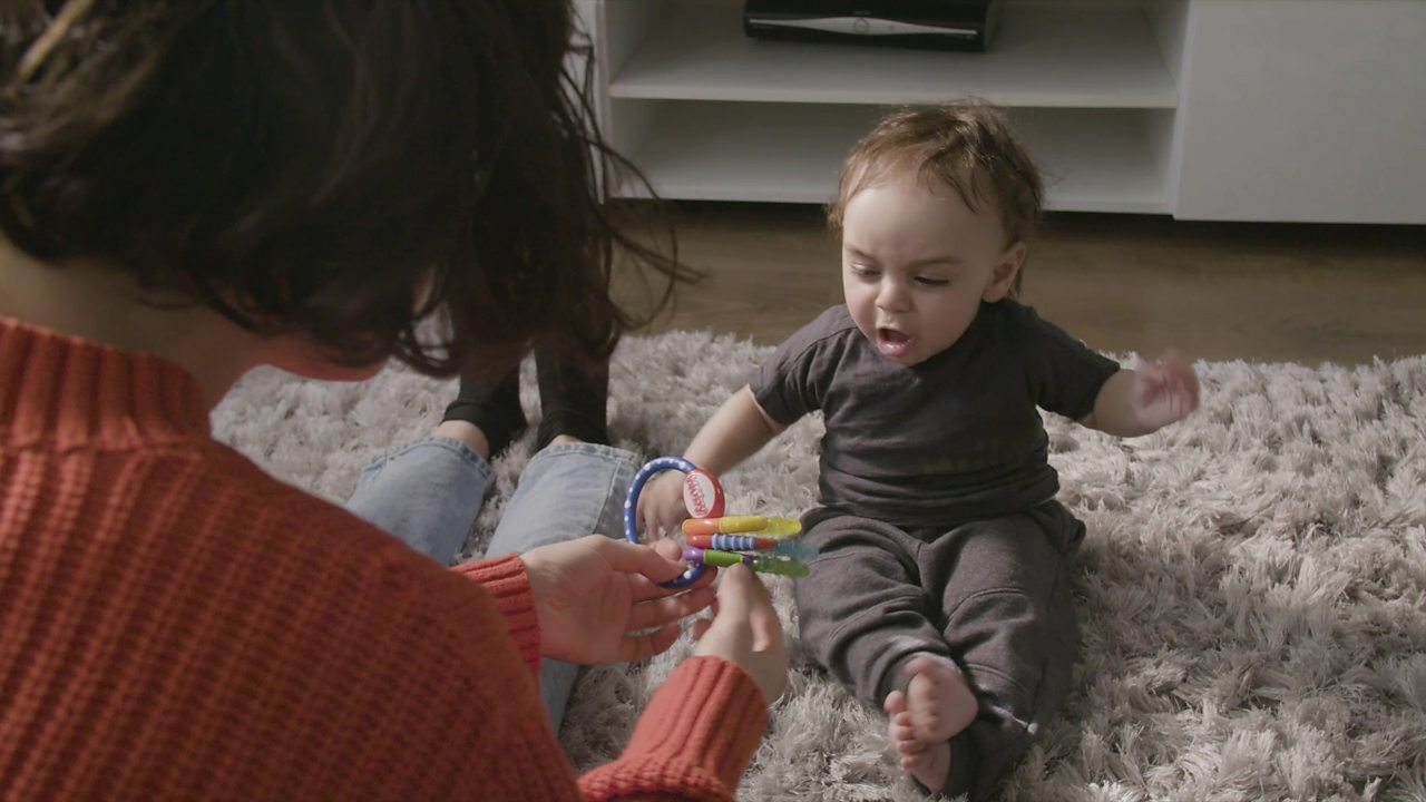 Mardy Baby: Sometimes babies just want to make noise!