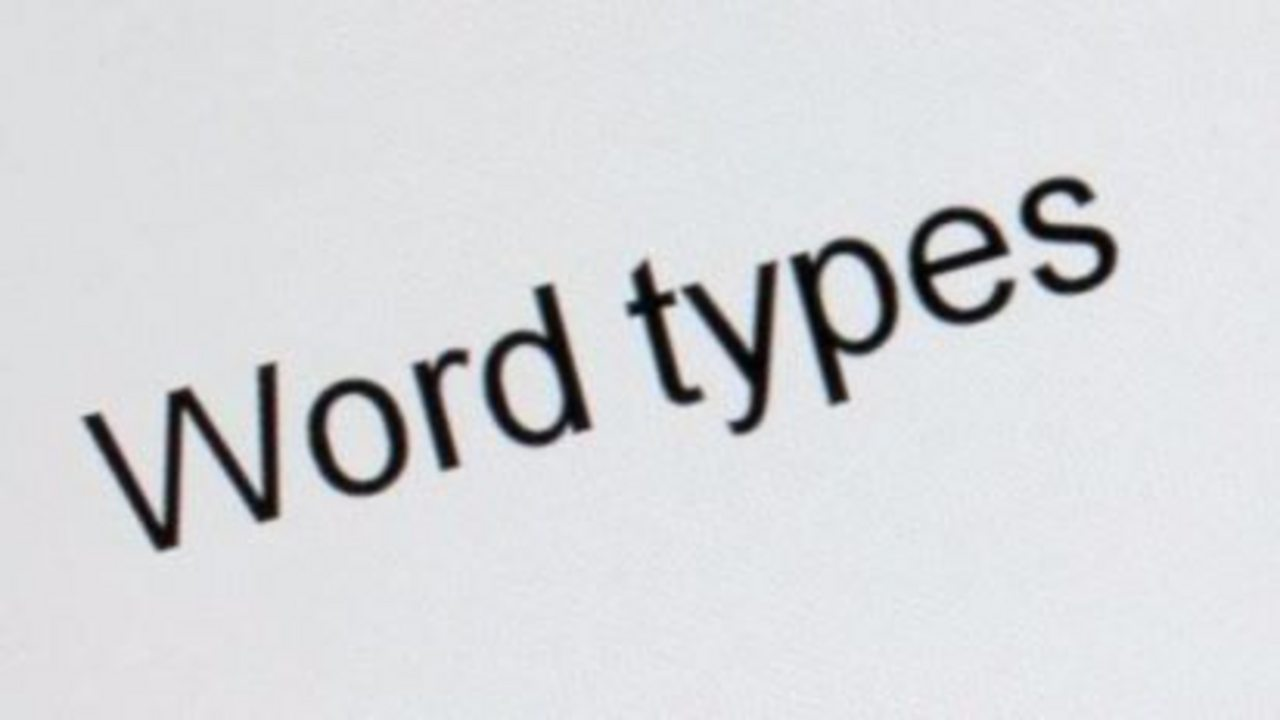What are word types?