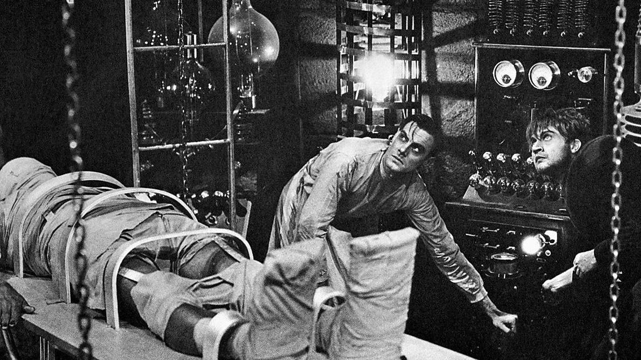 Dr. Frankenstein bringing the monster to life.