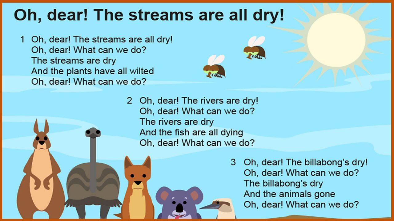 Lyrics: 'Oh, dear! The streams are all dry!'