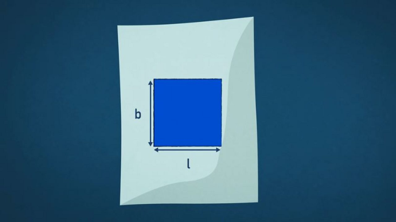 A square has two dimensions - length and breadth