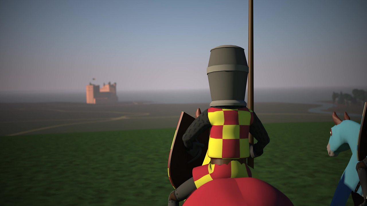 Illustration of Scottish cavalry at the Battle of Dunbar, 1296