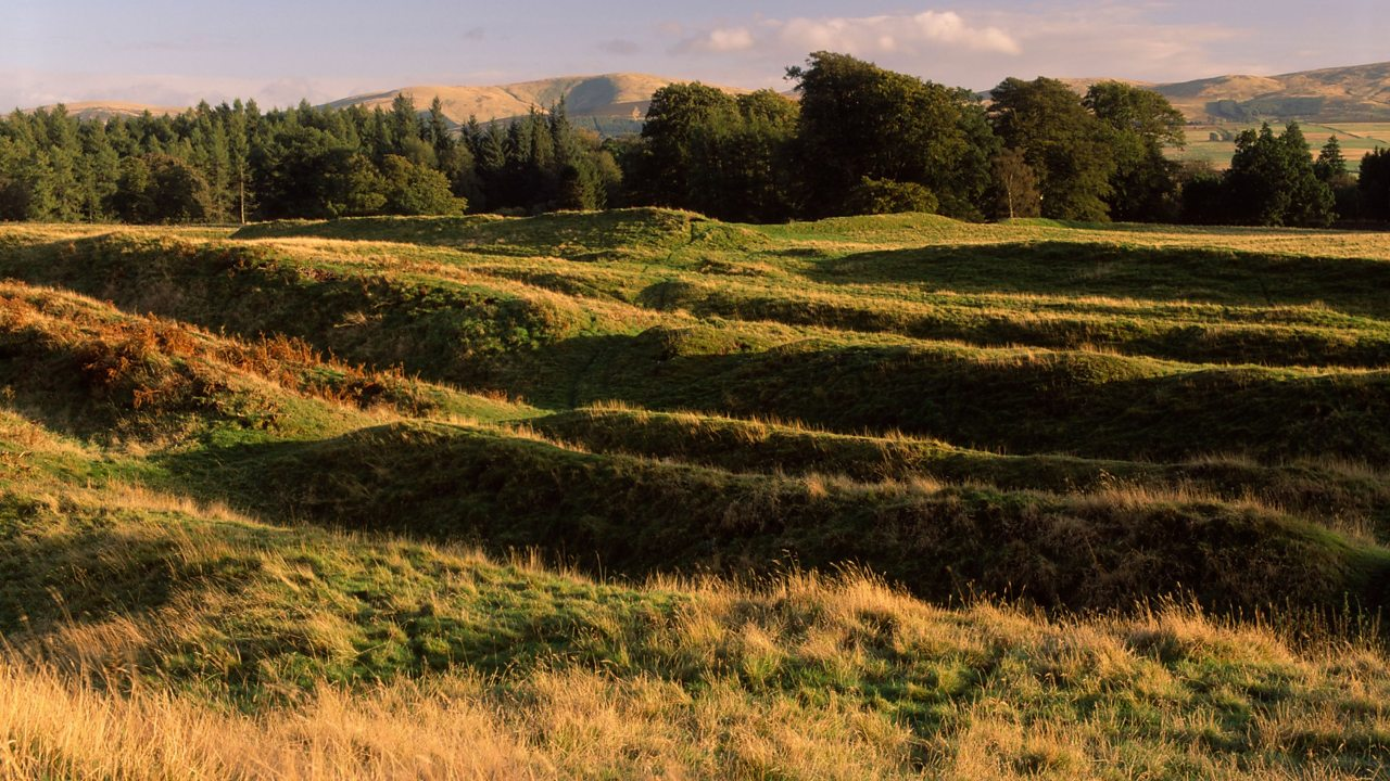 Defensive earthworks at Ardoch Roman Fort