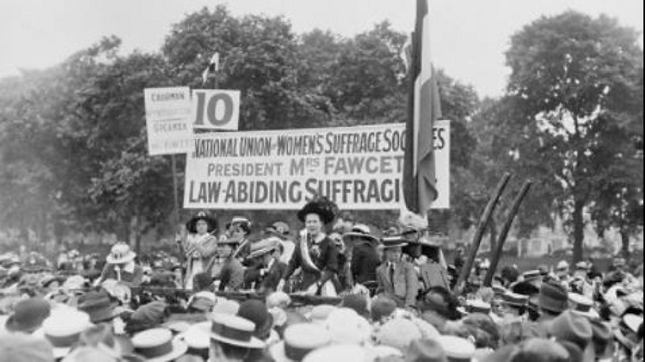 The campaign for women's suffrage