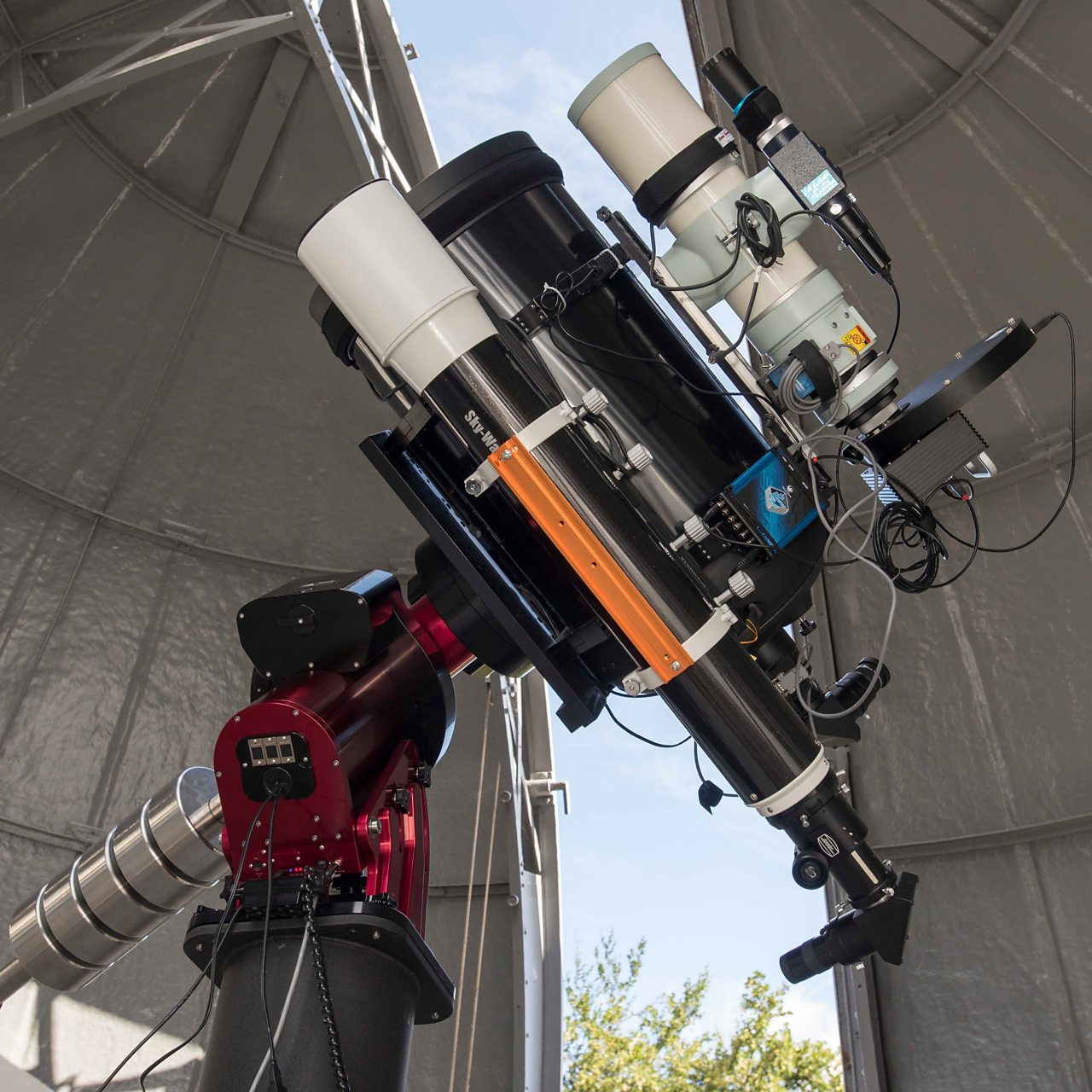 Photograph of the new Annie Maunder Astrographic Telescope at the Royal Observatory Greenwich National Maritime Museum London
