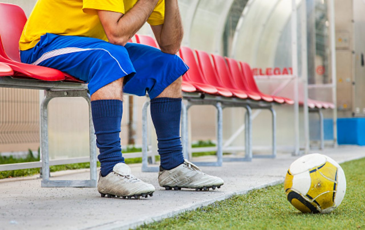 Footballer on the bench