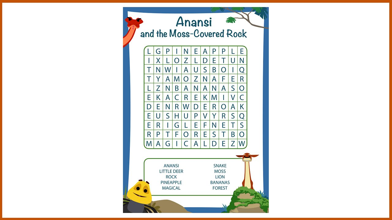 Resource Sheet 13: Word search puzzle