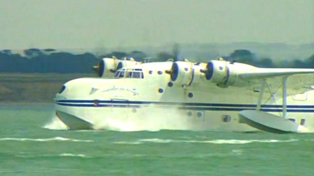 Sunderland Flying Boat restored, 1993