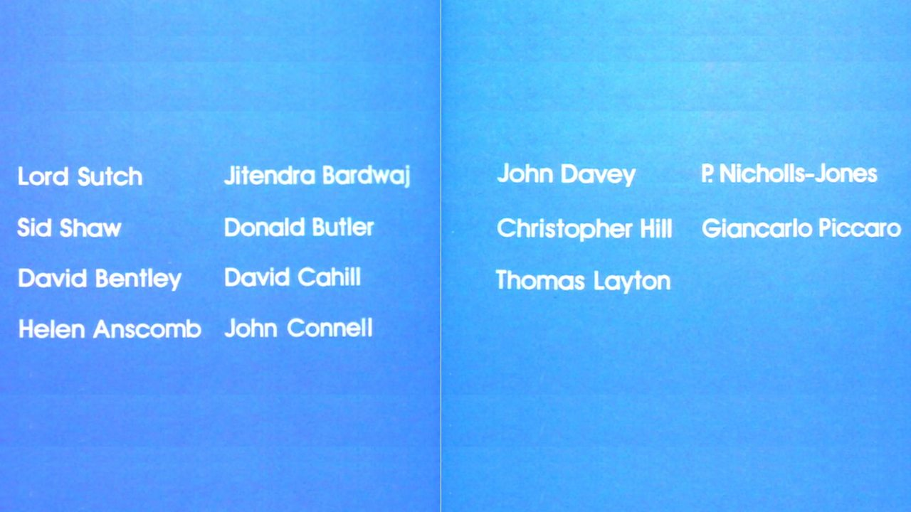 Chesterfield's other candidates, 1984