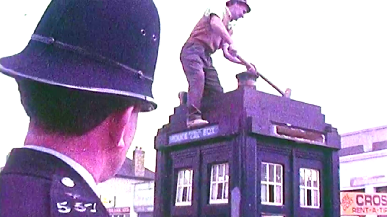 Police Box demolition, 1970