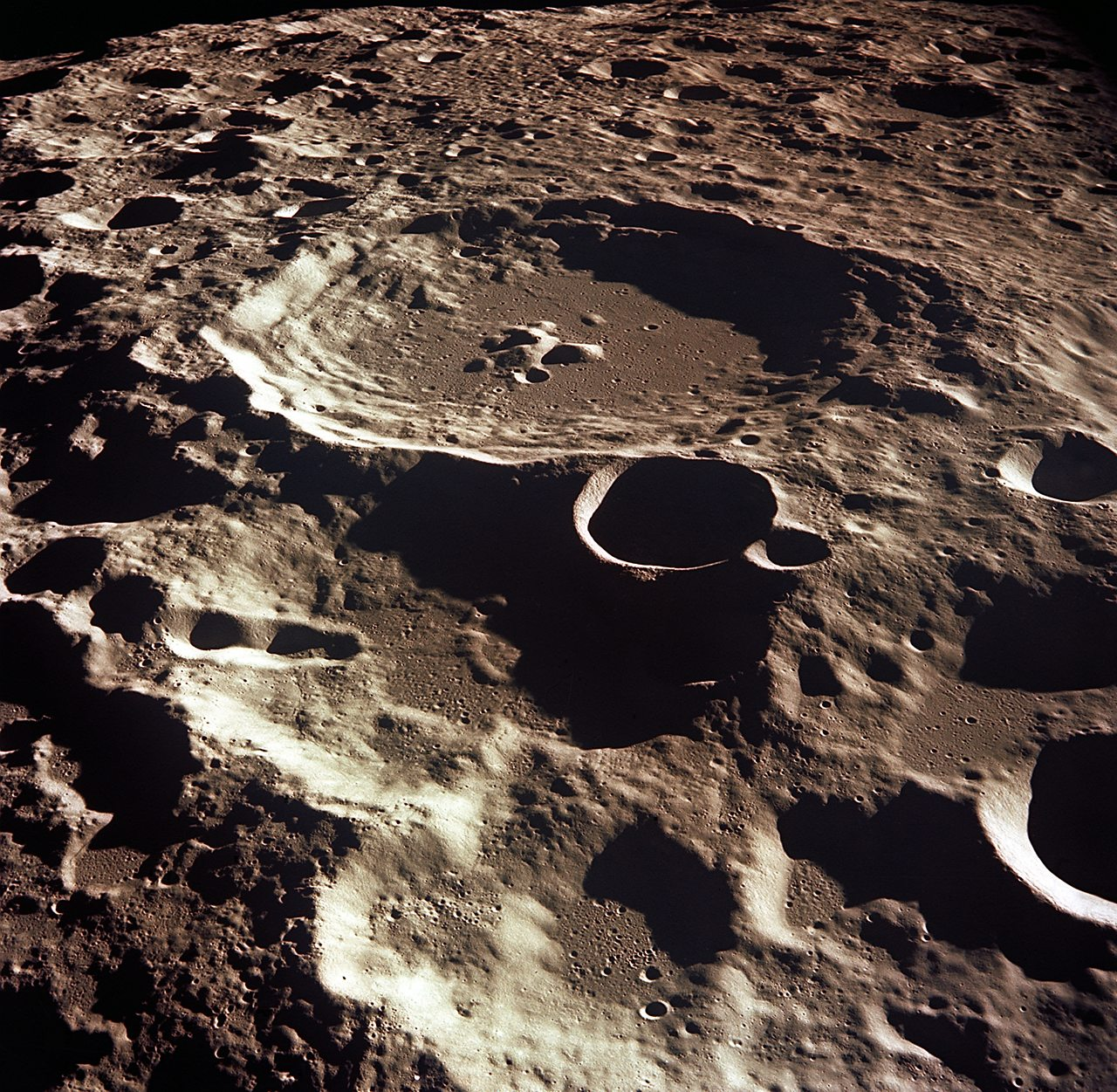 Crater 308 on the moon's surface