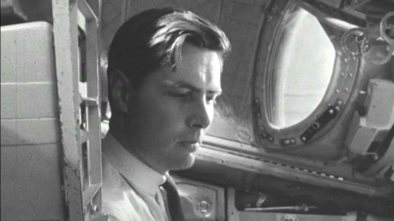 At the controls of Gemini, 1966