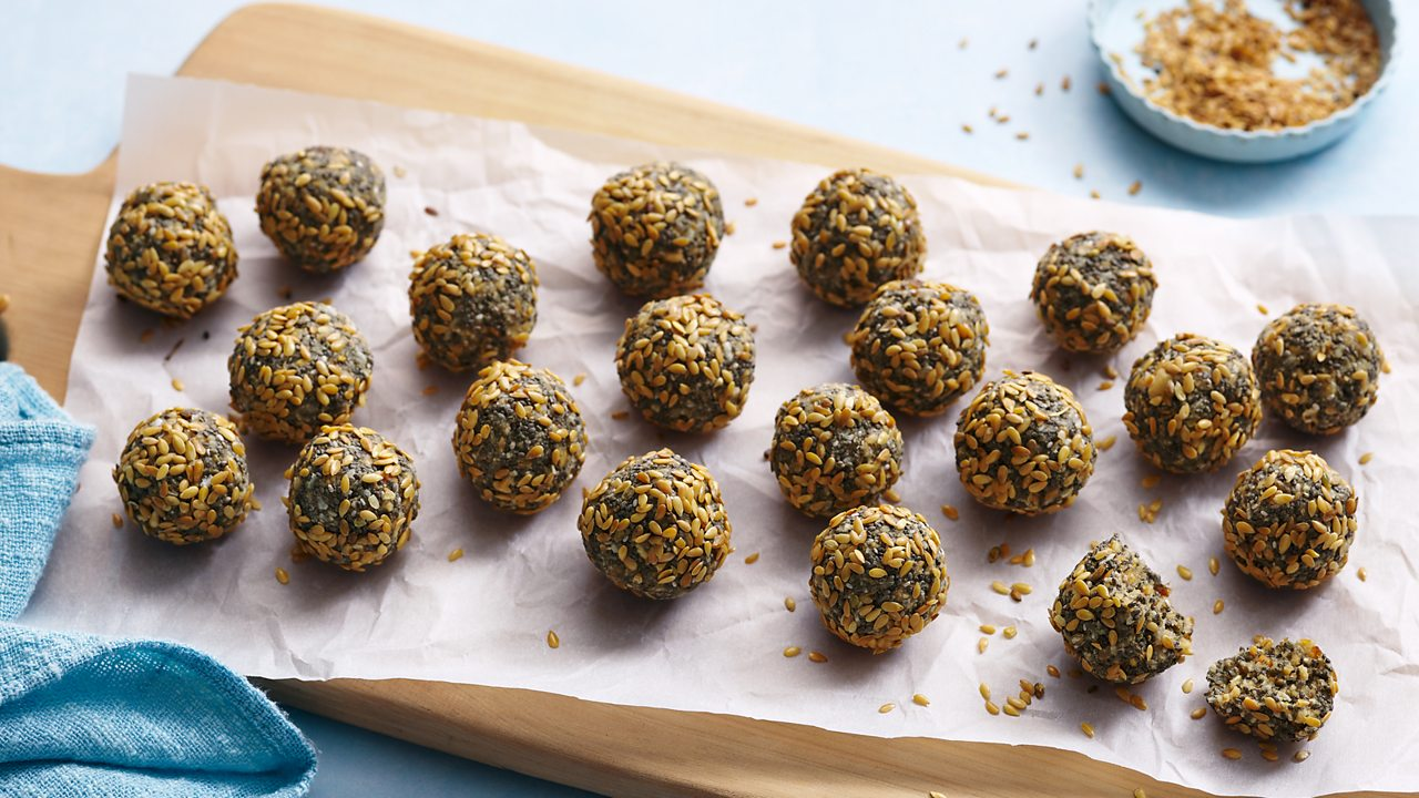Get the recipe for peanut and coconut energy balls
