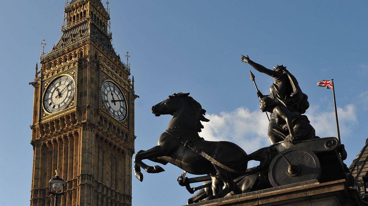 Boudicca statue outside Parliament