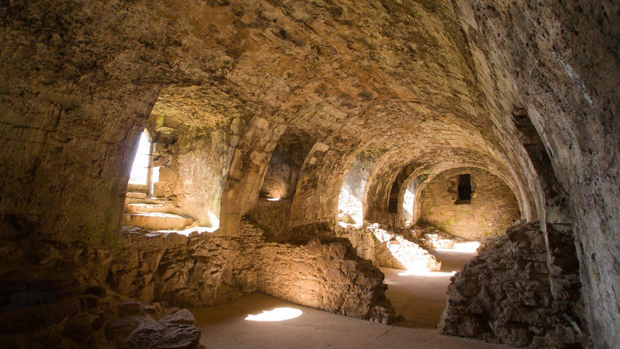 Underground storage at Dirleton Castle