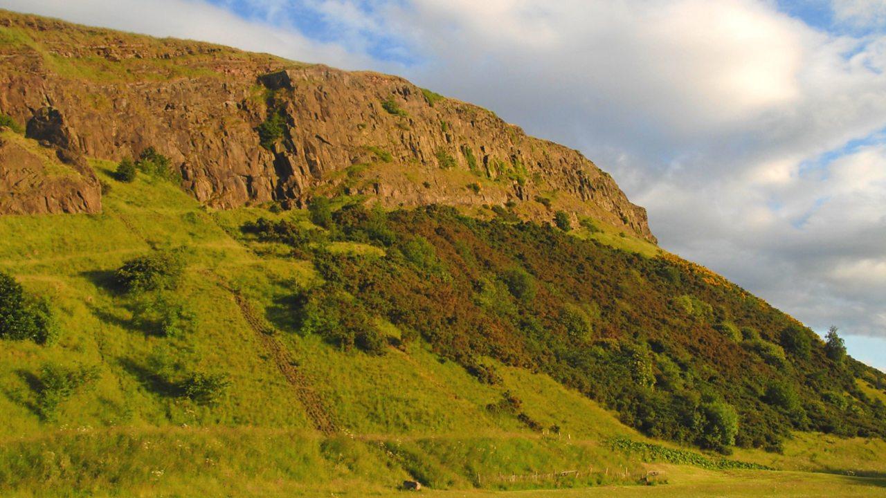 A photo of Salisbury Crags in Edinburgh