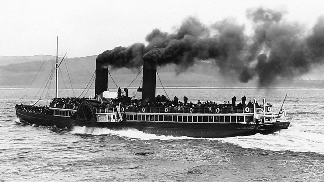 A paddle steamer on the Clyde