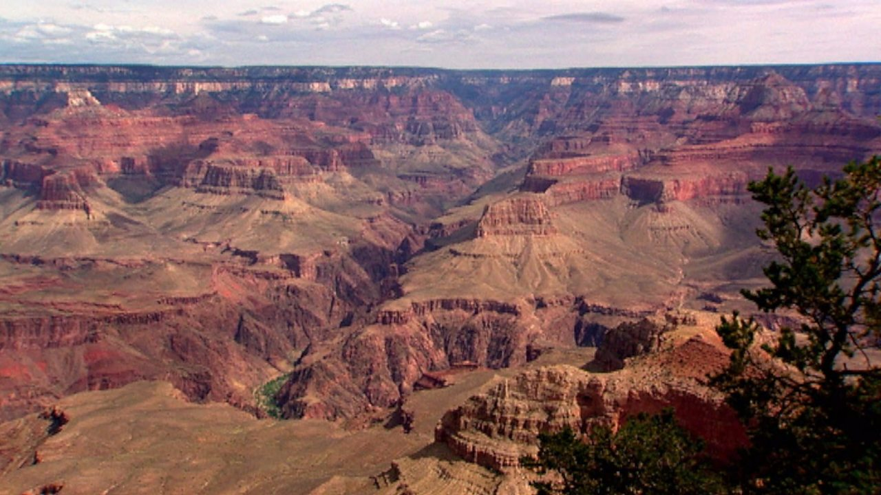 The erosion of the Grand Canyon