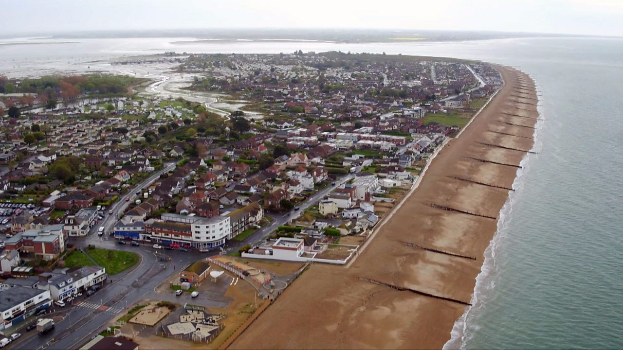 What coastal management techniques are being used on Hayling Island?