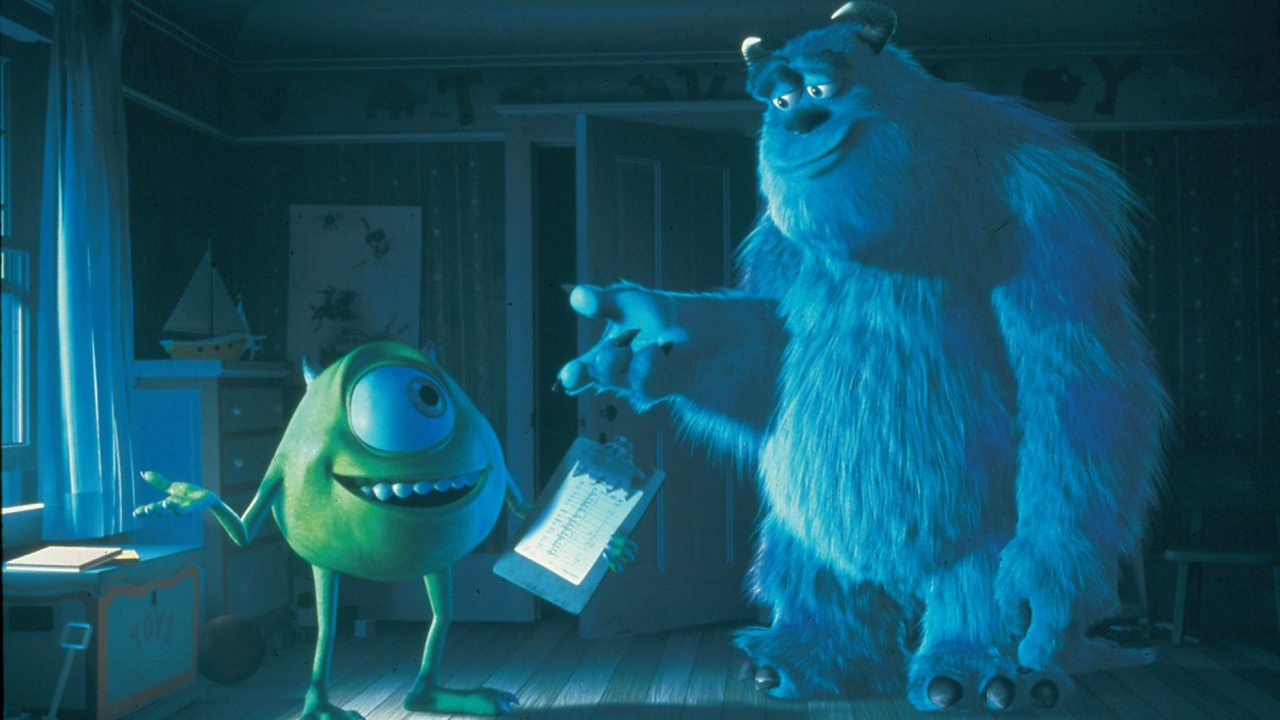 Sulley and Mike looking happy together.