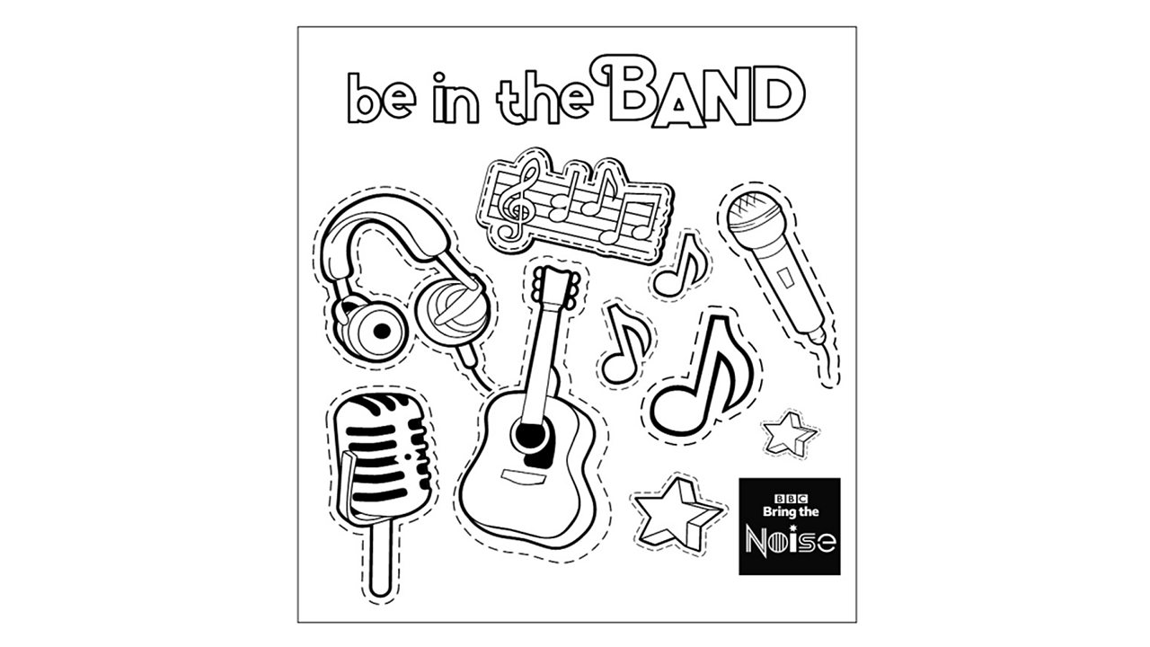 Music colouring sheets