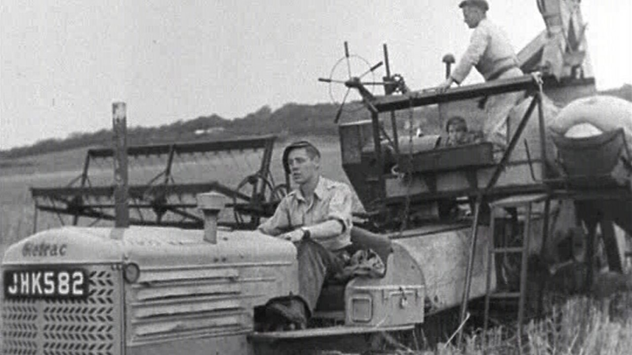 The combine harvester is the hero, 1948