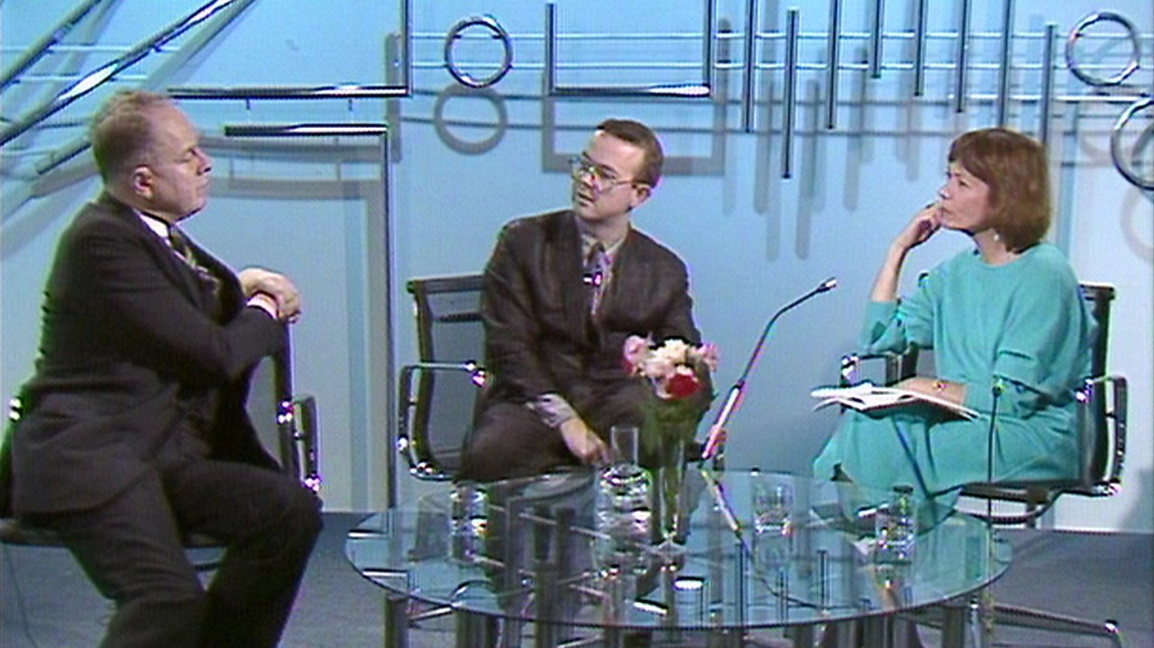Hislop and Sherrin on satire, 1986
