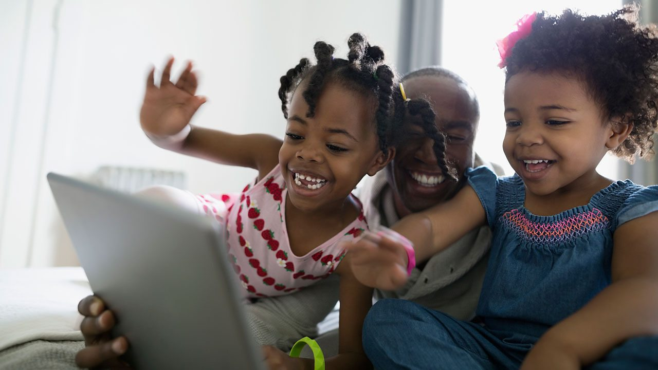 Using video calls to stay in touch and bond with children