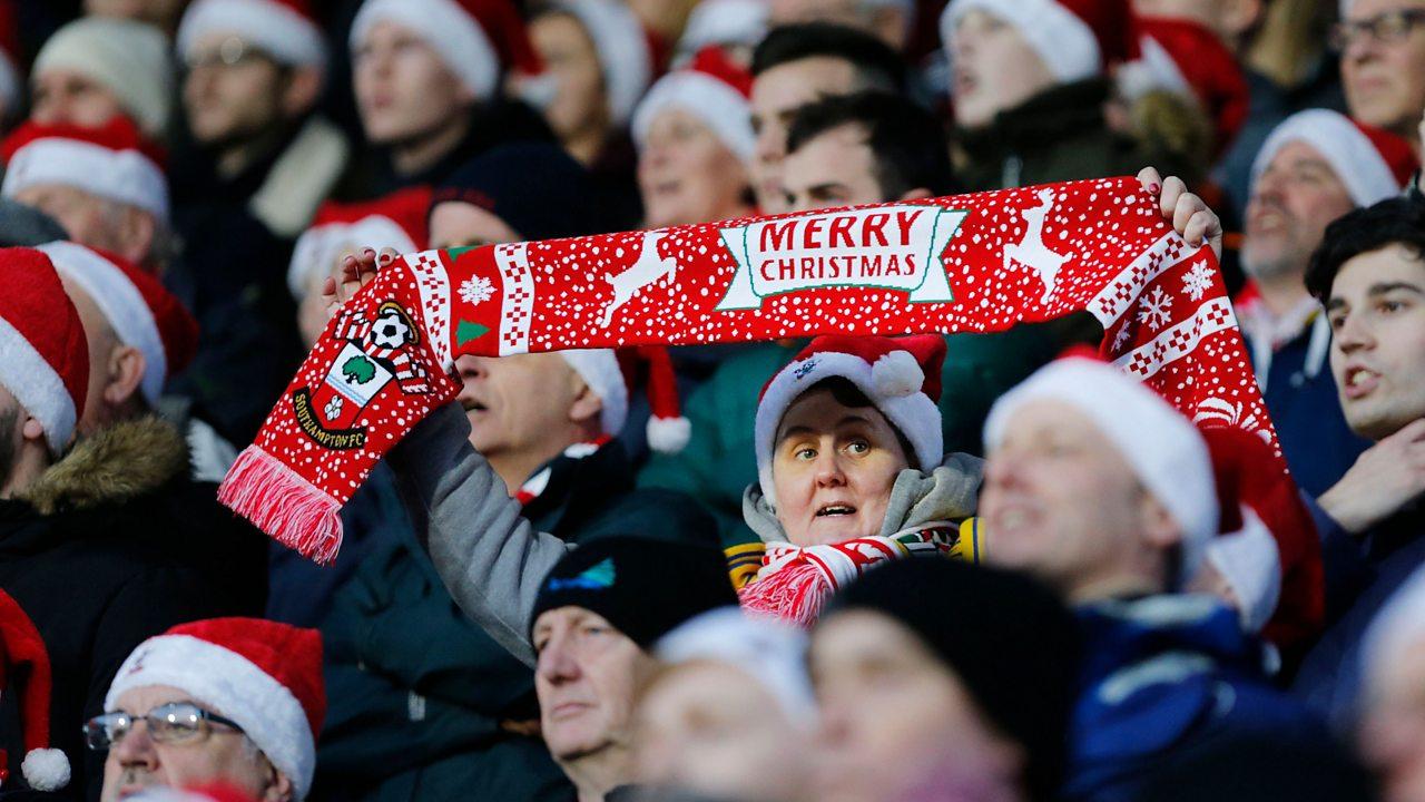 The history of football at Christmas
