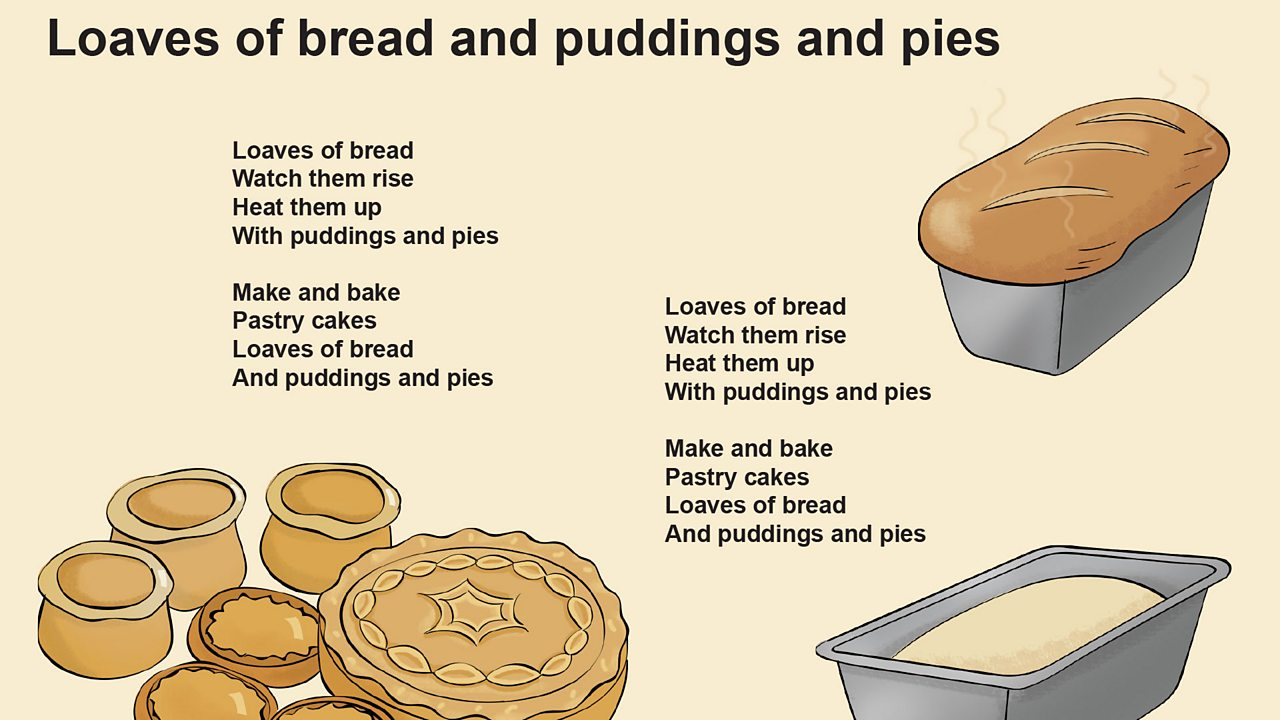 Loaves of bread and pudding and pies song lyrics (pdf)