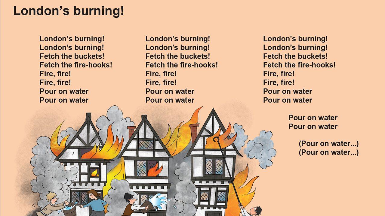 London's burning! song lyrics (pdf)