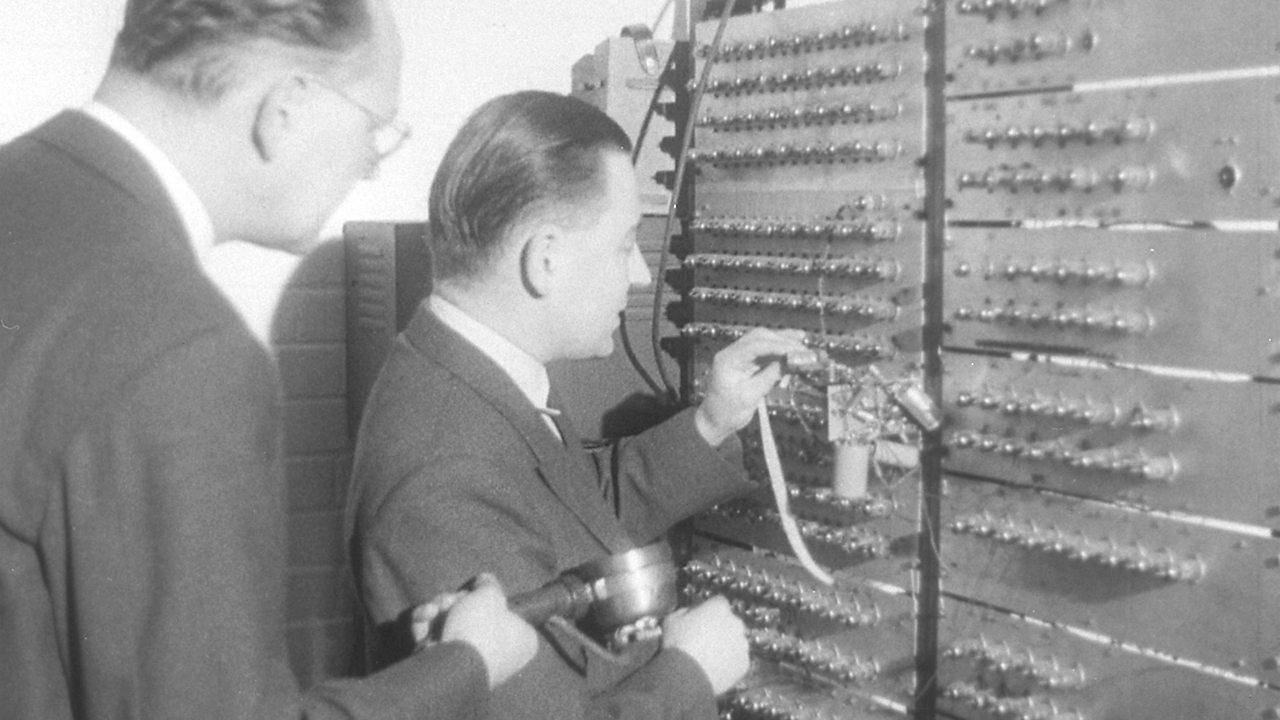 French to English translator computer, 1955