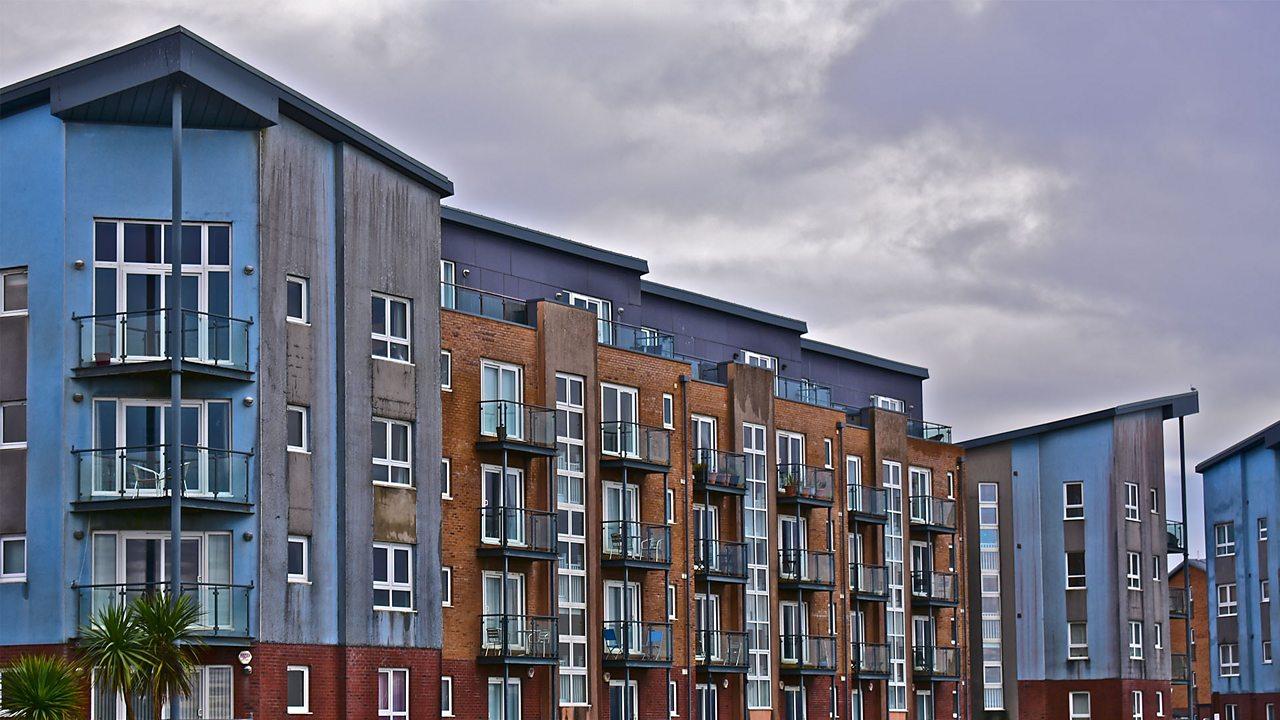 A photo of a block of flats