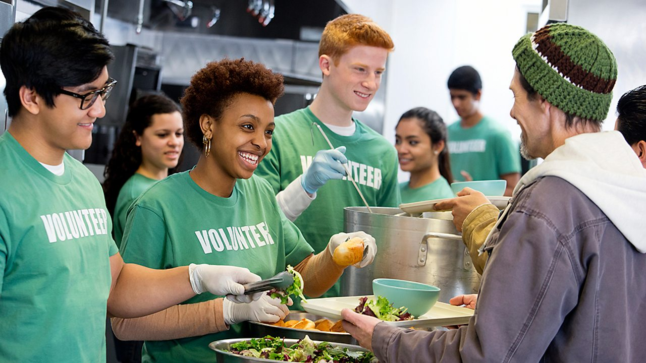 Non-religious beliefs – Volunteers at a soup kitchen