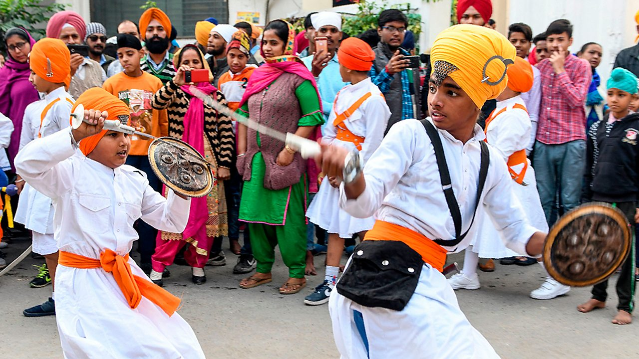 Sikhism – A martial arts display at the Golden Temple, Amritsar