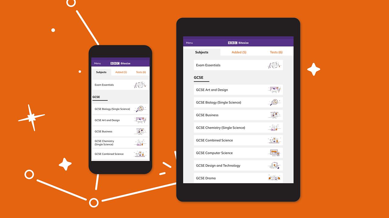 Bitesize App Homescreen