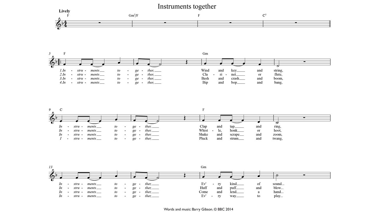 Instruments together - music