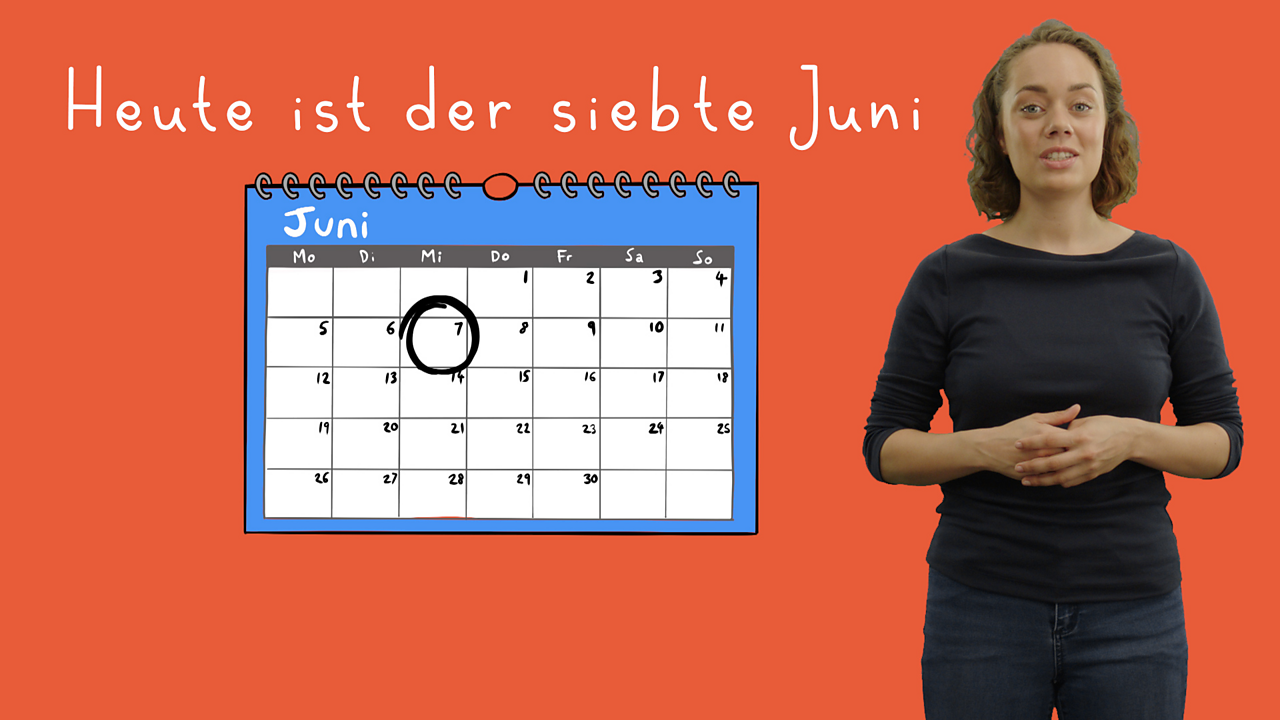 Days and months in German