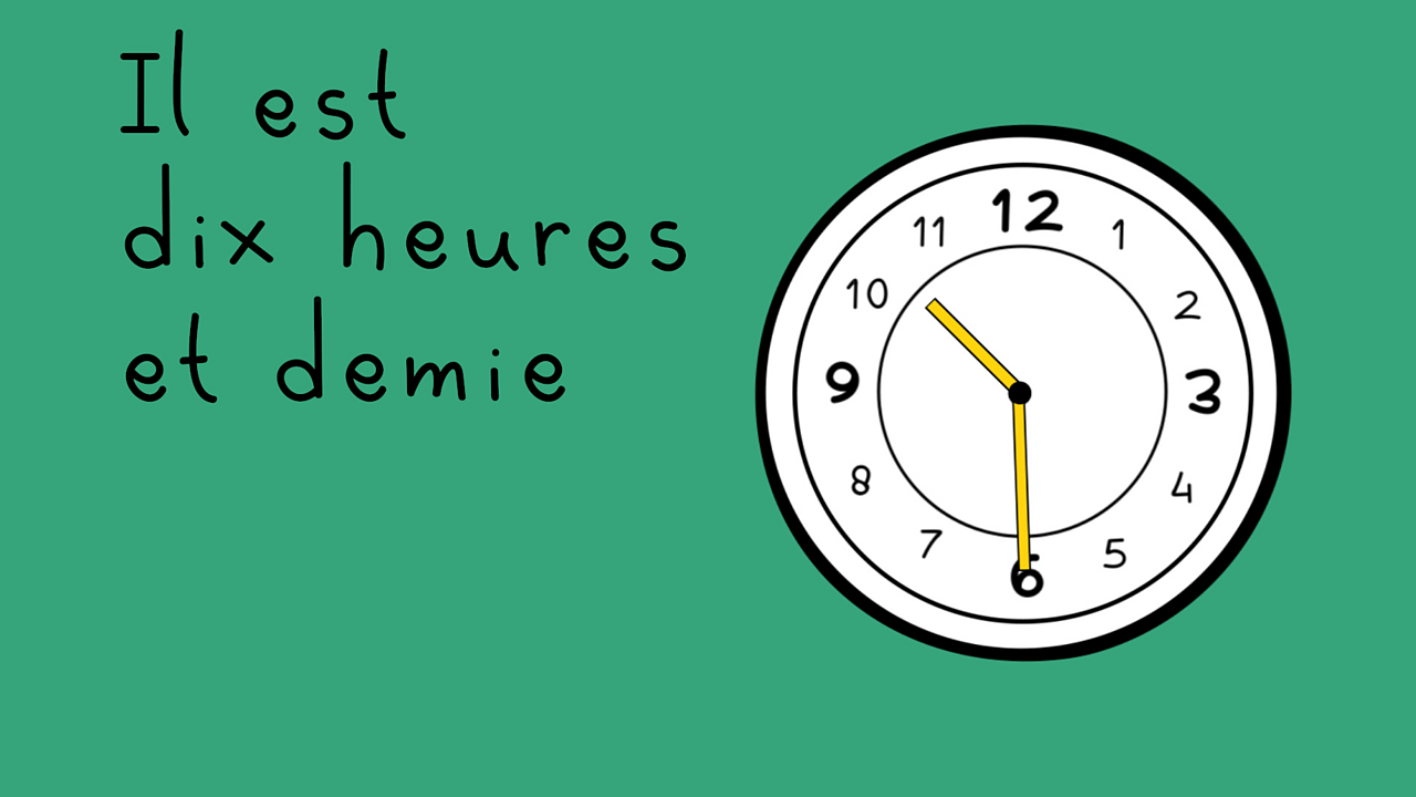 Telling the time in French using 'être'