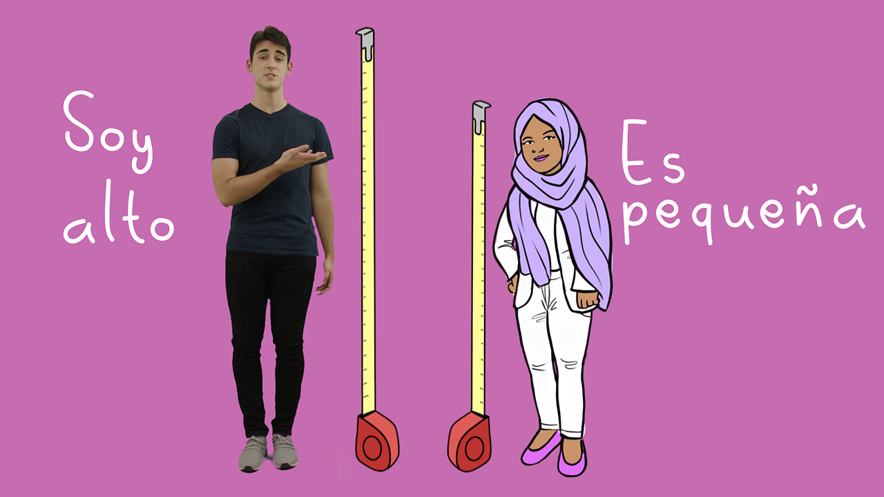 Describing people in Spanish using 'tener' and 'ser'