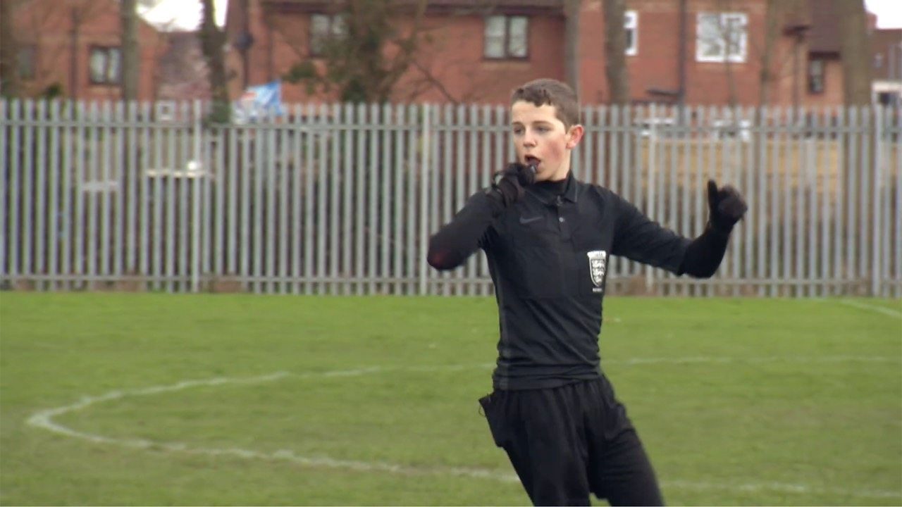 Football referee Ryan reported on the abuse he receives from players and spectators.