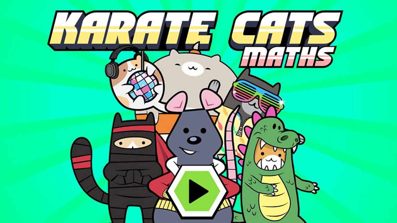 Play Karate Cats Maths Game For Kids Free Online Maths Games Bbc Bitesize