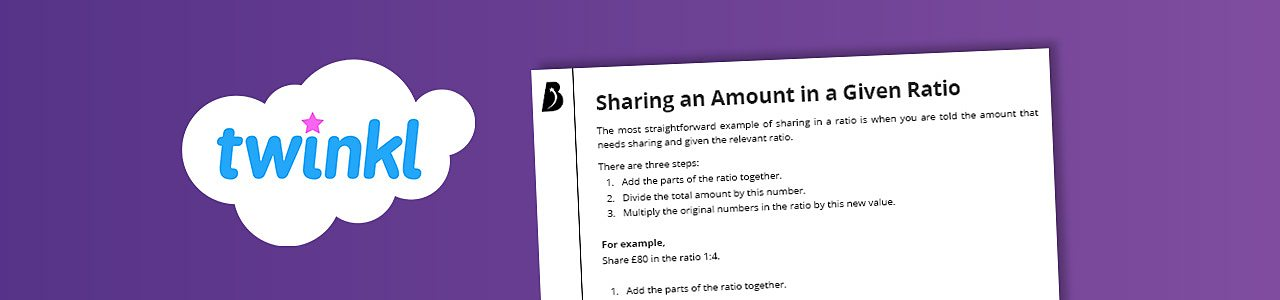 Sharing an amount into a given ratio
