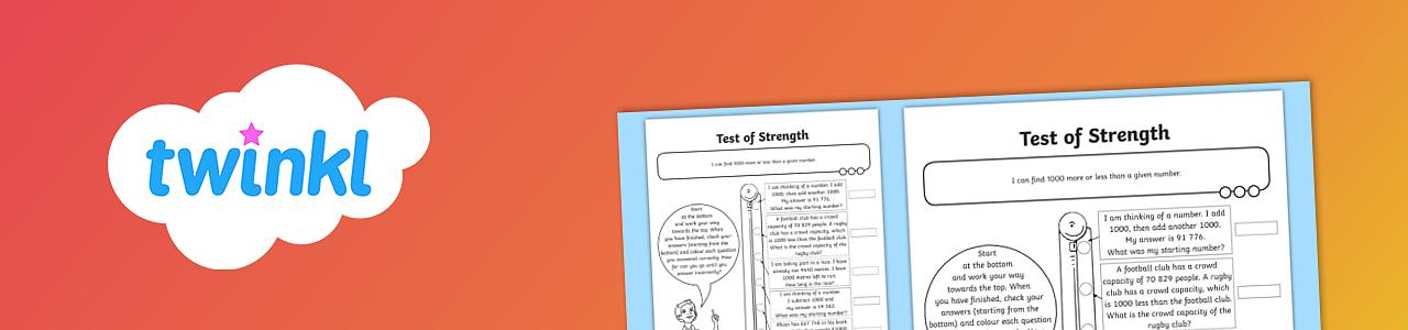 Test of strength worksheet