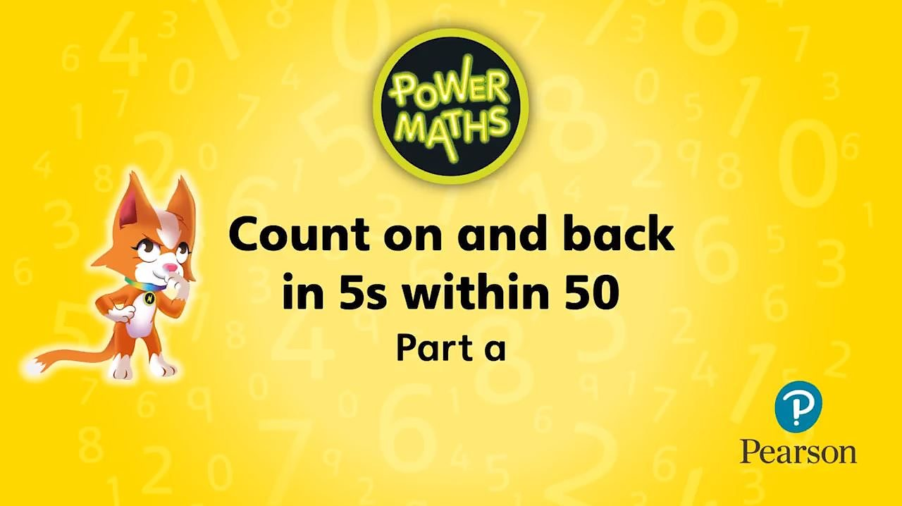 Counting on and back in 5s within 50