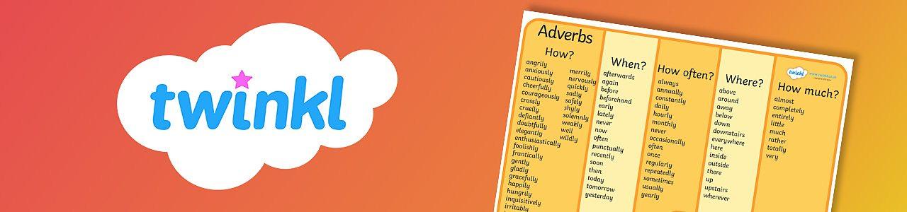 Adverbs word mat