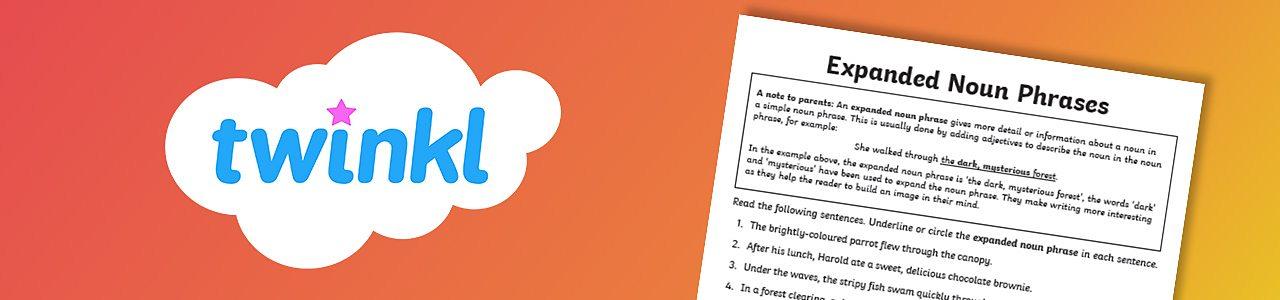 Expanded noun phrases activity sheet