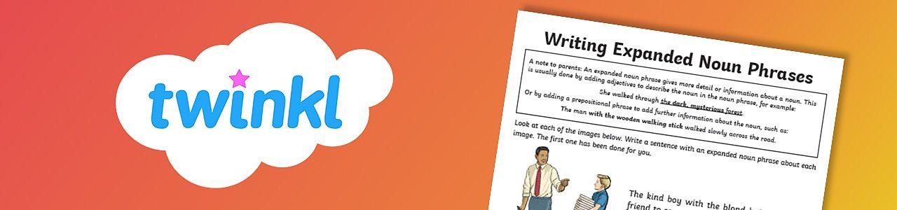 Writing expanded noun phrases activity sheet
